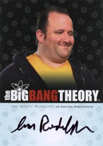 2012 Cryptozoic Big Bang Theory Seasons 3 and 4 Autographs A20 Ian Scott Rudolph as Captain Sweatpants