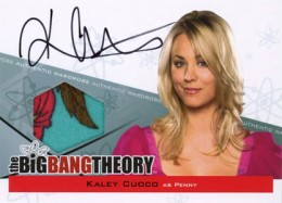 2012 Cryptozoic Big Bang Theory Seasons 3 and 4 Autographs A3 Kaley Cuoco as Penny