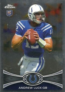 2012 Topps Chrome Football Rookie Variations Andrew Luck