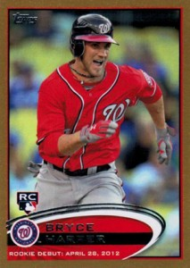 2012 Topps Update Series Baseball Gold Bryce Harper
