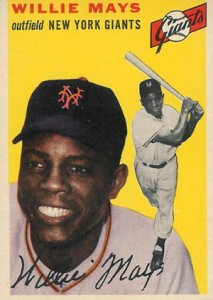 1954 Topps Baseball Willie Mays