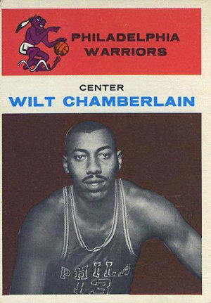 1961-62 Fleer Basketball Wilt Chamberlain RC