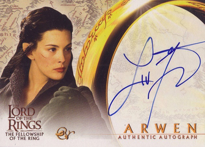 2001 Topps Lord of the Rings: The Fellowship of the Ring Liv Tyler Autograph