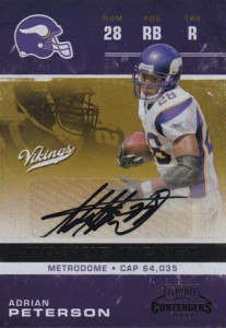 2007 Playoff Contenders Adrian Peterson RC