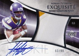 2007 Upper Deck Exquisite Adrian Peterson RC