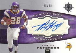 2007 Upper Deck Ultimate Collection Adrian Peterson RC