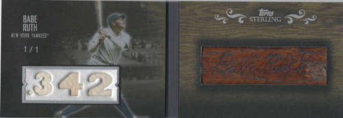 2008 Topps Sterling Babe Ruth Bat plate