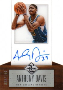 2012-13 Panini Limited Anthony Davis RC Autograph