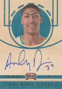 2012-13 Panini Threads Anthony Davis Autograph RC