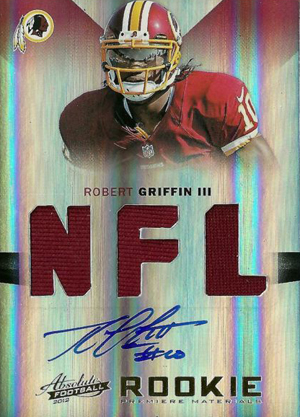 Robert Griffin III Rookie Cards and Autograph Memorabilia Guide 23