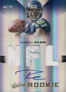 2012 Absolute Russell Wilson RC Autograph
