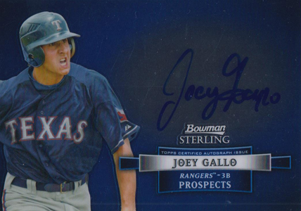 2012 Bowman Sterling Baseball Prospect Autographs Joey Gallo