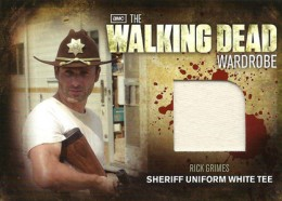 2012 Cryptozoic Walking Dead Season 2 Wardrobe Costume Cards M1 Rick Grimes Sheriff Uniform White Tee