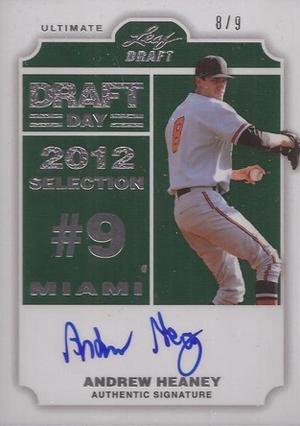 2012 Leaf Ultimate Draft Baseball Cards 7