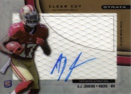 2012 Topps Strata Football Clear Cut Autograph Relic AJ Jenkins 99