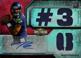 2012 Topps Triple Threads Russell Wilson RC 3 QB