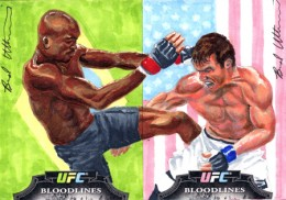 Art of War: Talking with UFC Sketch Card Artist Brad Utterstrom 1