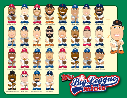 2013 Topps Big League Minis Baseball Vinyl Figures 11
