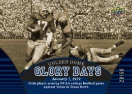 2013 Upper Deck University of Notre Dame Football Cards 2