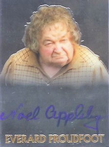 2004 Topps Lord of the Rings Trilogy Chrome Autographs Noel Appleby as Everard Proudfoot