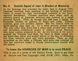1938 Gum Inc Horrors of War 6 Back