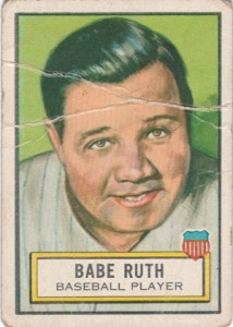 1952 Topps Look n See Babe Ruth