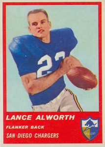 1963 Fleer Lance Alworth RC