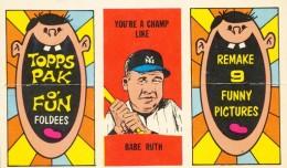 1963 Topps Foldees 26 Babe Ruth