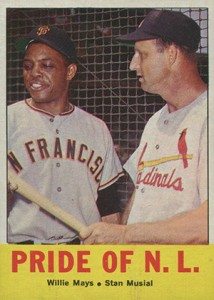 1963 Topps Willie Mays Stan Musial