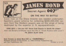 1966 Philadelphia Gum James Bond Thunderball Trading Cards 2
