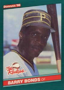 Barry Bonds cards - 1986 Donruss The Rookies Barry Bonds RC