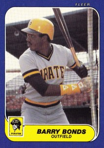 1986 Fleer Update Barry Bonds RC