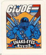 1986 Hasbro G.I. Joe Action Cards Stickers