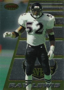 Ray Lewis Cards - 1996 Bowmans Best Ray Lewis RC