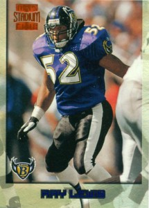 1996 Stadium Club Ray Lewis RC