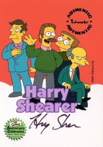 2000 Inkworks Simpsons 10th Anniversary Autographs A1 Harry Shearer
