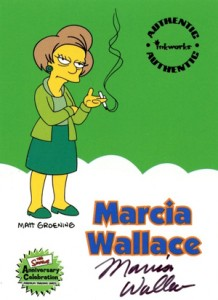 2000 Inkworks Simpsons 10th Anniversary Autographs A5 Marcia Wallace