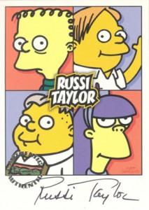 2001 Inkworks Simpsons Mania Autographs A4 Russi Taylor