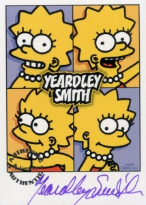2001 Inkworks Simpsons Mania Autographs A7 Yeardly Smith