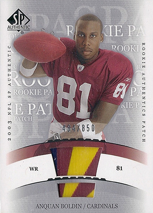 Anquan Boldin Cards and Autograph Memorabilia Guide 23