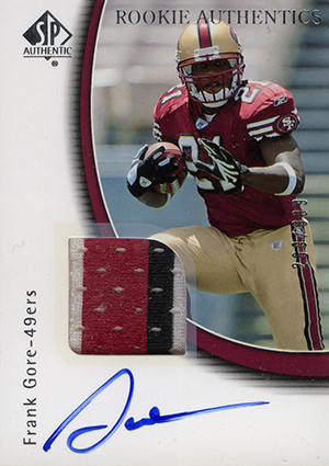 Frank Gore Rookie Cards and Autograph Memorabilia Guide 24