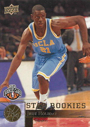 Jrue Holiday Cards - 2009-10 Upper Deck RC