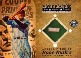 2009 Breygent Classic Movie Posters VR1 Babe Ruth GU Bat