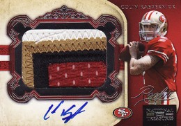 2011 National Treasures Colin Kaepernick RC