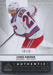2012-13 SP Game Used Chris Kreider RC #/20