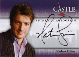Nathan Fillion Autographs Confirmed for Castle Seasons 1 and 2 Trading Cards 1