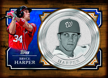 2013 Topps Million Dollar Chase Bryce Harper Coin Card Image