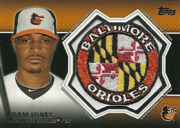 2013 Topps Series 1 Baseball Commemorative Patch CP-1 Adam Jones