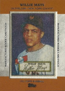 2013 Topps Series 1 Baseball Rookie Patch RCP-1 Willie Mays
