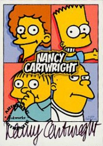 2001 Inkworks Simpsons Mania Autographs A1 Nancy Cartwright